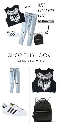 """Summerish"" by mirela-r13 on Polyvore featuring WithChic, adidas and Gucci"