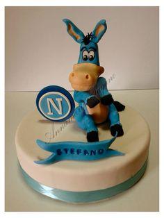 Cake Topper con Mascotte del Napoli