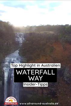 Zum Blogartikel über den Waterfall Way - Klicke auf den Link. Dort erfährst du Insider Tipps, sowie Sehenswürdigkeiten & Highlights zu dem beliebten Must-See an der Ostküste von Australien! #australien #australienreise #waterfallway #roadtripaustralien #australienostküste #australienreise #mustseeaustralien #sehenswürdigkeitenaustralien Brisbane, Sydney, Highlights, Roadtrip, Australia, Link, Blog, Australia Tourist Attractions, Waterfall