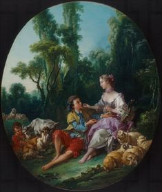 "François Boucher  ""Are They Thinking about the Grape? (Pensent-ils au raisin?)""  Oil on canvas, 1747  The Art Institute of Chicago"