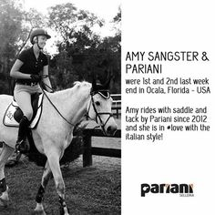 Also #AmySangster is in #love with her #Pariani! Great results in Florida with her #horse