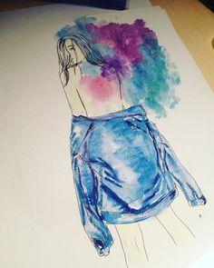 🎨➡️#artwork #artoftheday #artofdrawing #fashionblog #fashionillustration #fashionista #fashionsketch #design #jeansjacket #colorful #instapic #instafashion #newarpfashion #instaart #follow4follow #follow4like #like4likes #likeit #likeforlike #fashionstyle