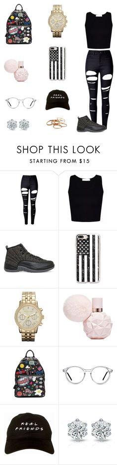 """""""🌑"""" by dajahknox ❤ liked on Polyvore featuring WithChic, NIKE, Casetify, MICHAEL Michael Kors, Anya Hindmarch, GlassesUSA and Kendra Scott"""