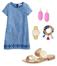 """""""Untitled #221"""" by tumblegee on Polyvore featuring BaubleBar, Kendra Scott, Jack Rogers and Kate Spade"""