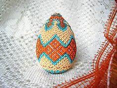 Готовимся к Пасхе: оплетаем бисером деревянную заготовку «яйцо» - Ярмарка Мастеров - ручная работа, handmade