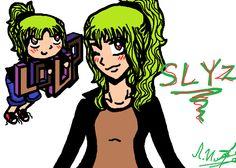 oui je sais elle a des cheveux verts!