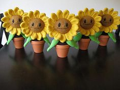 Now you can make your very own Happy Sunflower, ready to brighten up any window sill or desk!!! P.S. No watering required :D