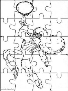 Printable jigsaw puzzles to cut out for kids Dragon Ball Z 3