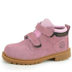 Autumn and winter genuine leather wear resistant slip resistant child boys shoes martin boots girls pink boots high quality 8 $45.60