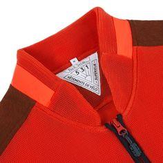 Paul Smith Men's Gilets | Orange 531 Windproof Mesh Paneled Gilet