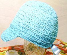 Lindos Bonés de crochê em azul, nos tamanhos P M G    EXCLUSIVIDADE MIMOS DE SILVINHA R$ 78,00