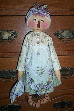 Hanky Panky Annie... Raggedy modèle de poupée de par oneoftheflock