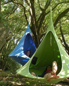 Hanging tent.