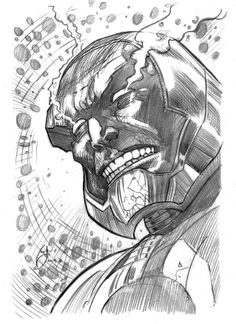sketch and drawing through the art of Ivan Reis