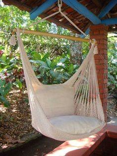 Hanging Hammock Chair - Sand Dune – Flora Decor
