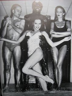 French Vogue April 1978, Helmut Newton Shoot with Jerry Hall