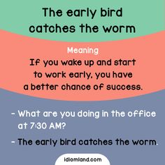 Are you an early bird? - Repinned by Chesapeake College Adult Ed. We offer free classes on the Eastern Shore of MD to help you earn your GED - H.S. Diploma or Learn English (ESL) . For GED classes contact Danielle Thomas 410-829-6043 dthomas@chesapeke.edu For ESL classes contact Karen Luceti - 410-443-1163 Kluceti@chesapeake.edu . www.chesapeake.edu
