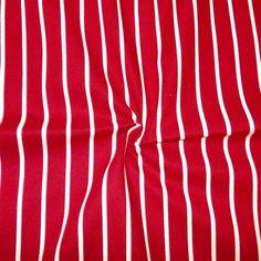 Baumwollstoff Streifen breit Farbe Rot Bekleidungsstoffe Baumwolle Diverse Streifen