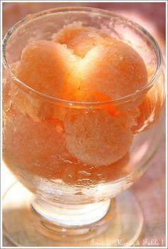 Sorbet melon sans sorbetière