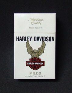 Embalagem de Harley Davidson Milds Harley Davidson Seats, Harley Davidson Pictures, Harley Davidson Motorcycles, Cigarette Brands, Cigarette Box, Retro, Newport Cigarettes, Charcoal Filter, Old Advertisements