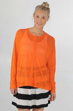 Cheap Monday Carmen cardigan Florida Orange 44,90 € www.dropinmarket.com