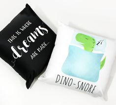 NEW Silky Soft Snuggly Pillows   I'm SUPER excited about my new addition to my Etsy Shop – Pillows! :D What's so awesome about them? Well aside from having my punnies to snuggle with, the material is so silky and… click to read full article! #pillow #pillows #homedecor #throwpillow #pillowcases #pillowcase #dino #dinosaurs #bedroom #bed #bedroomdecor #babyroom #nursery #etsyshop #homedesign #puns #gifts #blog