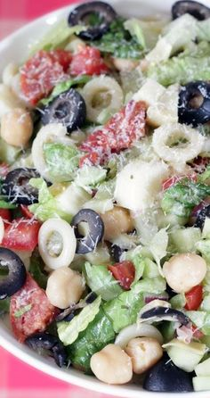 Italian Chopped Salad- really good.  I used turkey pepperoni.  It won't keep with the lettuce, so maybe next time just make as pasta salad so I can get the leftovers as lunch.  Perhaps add more veggies like bell peppers too.  Yummy dressing.  I used red wine vinegar, 3 tablespoons.