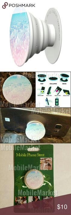 Mobile phone grip/stand arctic moonrise *this is an individual listing for 1 phone stand, color is according to second picture*  Pop, tilt, wrap, grip, collapse, repeat! Mobile phone stent like a pop socket (popsocket). Have a secure grip while calling, taking selfies, and texting. Use as a phone stand, portrait and landscape mode. and even to wrap your headphones around and prevent tangles and knots!!   BUNDLE AND SAVE! Accessories
