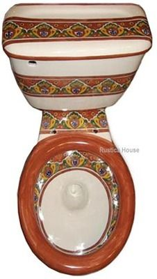 Mexican talavera toilets: hand painted toilet