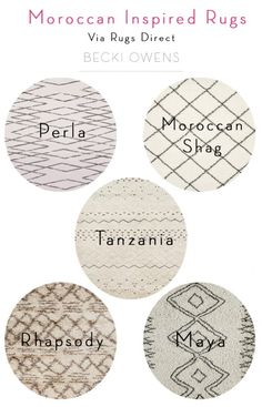 Tips for Styling Moroccan Style Rugs | Rugs Direct + Becki Owens