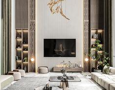 Interior Design And Graphic Design, Modern Design, Drawing Room Design, Best Kitchen Designs, Apartment Interior, Luxury Living, Cool Kitchens, Interior Architecture, Living Room Designs