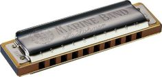 """Hohner 1896 Harmonic Minor Marine Band Harmonica G by Hohner. $37.99. As expert harp player Steve Baker describes in his book, The Harp Handbook, the Marine Band harmonica in Harmonic Minor tuning is in """"traditional, minor diatonic tuning - the blow chord is minor, but the draw chord...is major. In 1st position...it has a sound all of its own, which is great for oriental melodies, tangos or russian [sic] folk music...."""" In general, it has a very soulful, Eastern European sound...."""