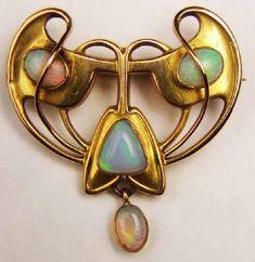 Art Nouveau - opal..