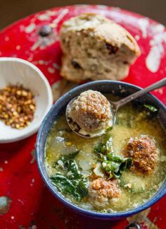 Italian Wedding Soup- When it comes to soups, I can easily say I have a hands-down favorite: Italian Wedding Soup. My experience of it is neither particularly Italian, nor is it matrimonial, rather it was one of the first real meals my mother fed me when I was a baby. The legend is that I'd slu