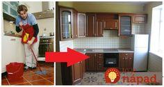 Mastnota na dlážke, oknách, kuchynskej linke a sporáku - s týmito radami sa jej zbavíte raz a navždy.    Prvá vec, ktorú treba dodržať je nikdy pri odstraňovaní mastnoty nepoužívať hrubú hubku ani drotenky, takto totižto ľahko Euro, Diy And Crafts, Kitchen Cabinets, Furniture, Home Decor, Board, Restaining Kitchen Cabinets, Room Decor, Home Interior Design