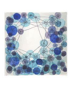 Abstract art print Blue Art - In the beginning - modern art - geometrical lines original painting $25 louisesart etsy