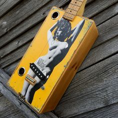 This is a box guitar, built in the tradition of a cigar box guitar. Built with pallet wood for the box. See some of Gary Reichel's other guitars on Amazon.com. #garyreichelguitars #cigarboxguitar #cbgitty