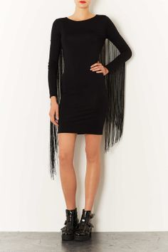 Fringe Bodycon Dress - Topshop.  Would be great for an event or on stage - $80