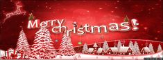 Merry Christmas Red Facebook Cover