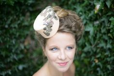Pink Felt Pillbox hat with vintage lace and bumble bee brooch. http://www.theheadmistressboutique.com/ https://www.etsy.com/uk/shop/headmistressboutique?ref=si_shop