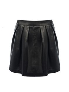 Italian Chic, Black Leather Skirts, Malene Birger, Fun Prints, Just In Case, Skater Skirt, Collections, How To Wear, Stuff To Buy