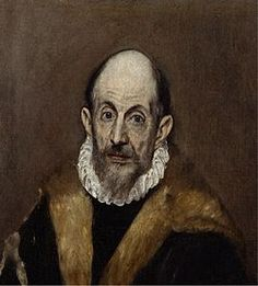 """El Greco - Portrait of a Man - Doménikos Theotokópoulos (Greek: Δομήνικος Θεοτοκόπουλος [ðoˈminikos θeotoˈkopulos]; October 1541 – 7 April most widely known as El Greco (""""The Greek""""), was a Greek painter, sculptor and architect of the Spanish Renaissance. World Famous Painters, Famous Artists, White Canvas Art, Large Abstract Wall Art, Heraklion, Creta, Spanish Painters, Chef D Oeuvre, Oil Painting Reproductions"""