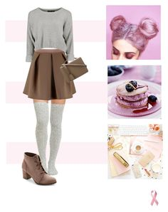 """☕️🍥"" by earthangell ❤ liked on Polyvore featuring Peony & Moss, Boohoo, Mark Cross and Madden Girl"