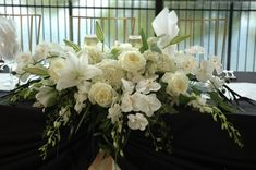 Image detail for -Photo Gallery - Photo Of White Head Table Centerpiece