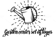 Garden center set of logos by MurMur on Creative Market