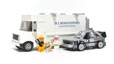 BTTF – Doc Brown's GMC Value Van With Small Delorean on LEGO CUUSOO