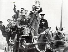 Dixie Dean of Everton brings home the FA Cup