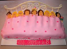 SLUMBER PARTY CAKE IDEAS - this would be easier than sculpting the people.