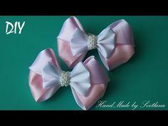 Бантики из лент  КАНЗАШИ DIY Bows made of ribbon Kanzashi Laço de Cetim Curva da fita 7 - YouTube