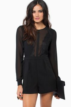 See through and lace romper
